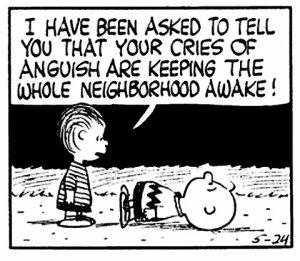 Peanut comic strip