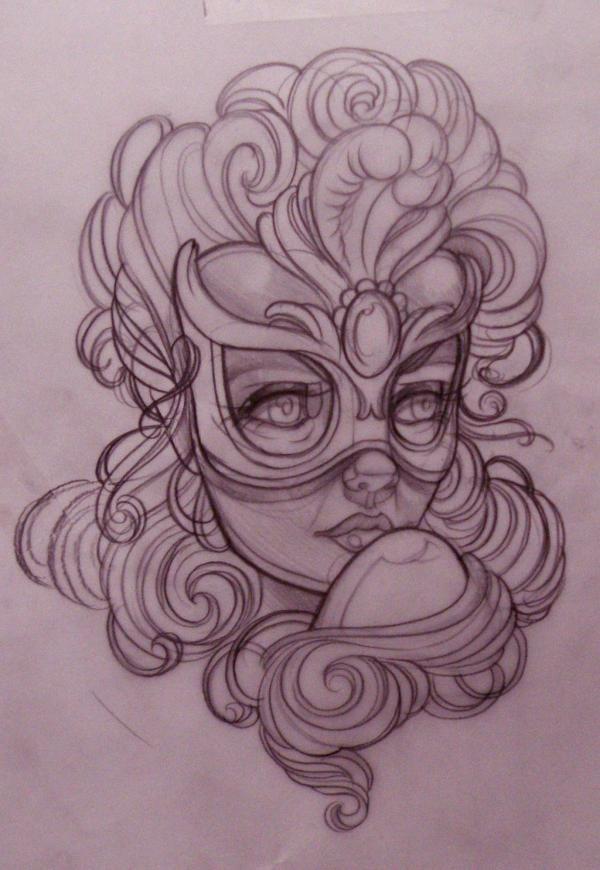 Graffiti Art Sketches Girl
